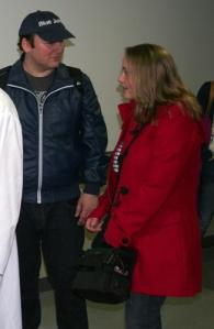 El escritor Blue Jeans con  Verónica García-Peña