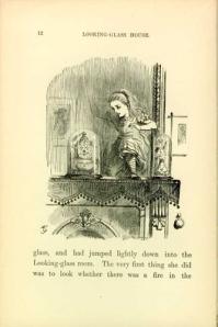 A través del espejo y lo que Alicia encontró allí (ilustración de John Tenniel)