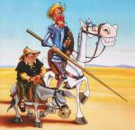 Don Quijote de la Mancha de Miguel de Cervantes.